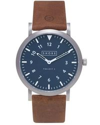 Shore Projects - Newquay Project 3 Leather Strap Watch - Lyst