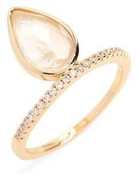 Melanie Auld - Teardrop Stacking Ring - Lyst