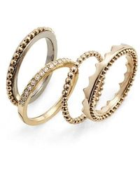 Jenny Packham - Stack Ring Set - Lyst