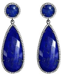 Susan Hanover - Semiprecious Stone Double Drop Earrings - Lyst
