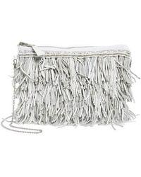 G-Lish - Bead & Leather Fringe Crossbody Bag - Lyst