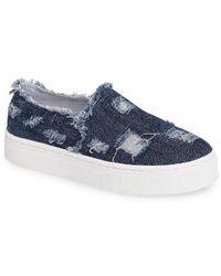 Sam Edelman - Lacey Slip-on Platform Sneaker - Lyst