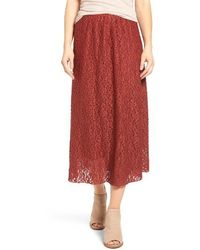 Hinge - Lace Midi Skirt - Lyst