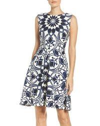 Taylor Dresses - Mirror Print Fit & Flare Dress - Lyst