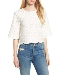 BISHOP AND YOUNG | Bishop + Young Scallop Edge Blouse | Lyst