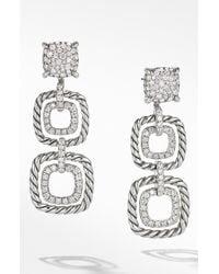 David Yurman - Chatelaine Full Pavé Diamond Triple Drop Earrings - Lyst