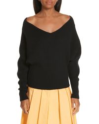 Ji Oh - Off The Shoulder Wool & Cashmere Sweater - Lyst