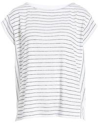 Eileen Fisher - Stripe Organic Linen Top - Lyst