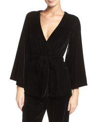 Felina - Radiant Velvet Kimono Top - Lyst