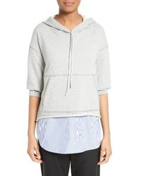 3.1 Phillip Lim - French Terry Combo Hoodie - Lyst