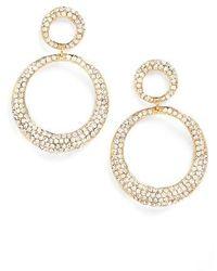 Tasha - Crystal Frontal Hoop Earrings - Lyst