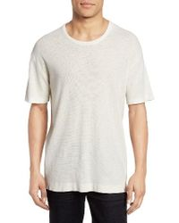 Baldwin Denim - Textured Crewneck T-shirt - Lyst