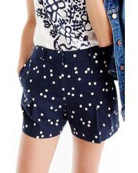 J.Crew | High Waist Polka Dot Shorts | Lyst