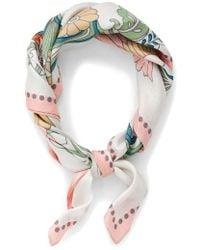 J.Crew | Ornate Floral Silk Italian Silk Scarf | Lyst
