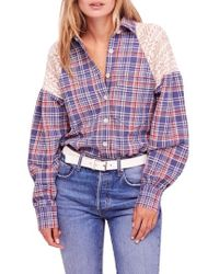 Free People - Fireside Nights Plaid Top - Lyst