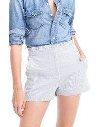 J.Crew | Ruffled Seersucker Stripe Shorts | Lyst