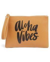 Ki-ele - Aloha Vibes Faux Leather Wristlet - Lyst