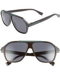 Fendi - 59mm Navigator Sunglasses - Lyst