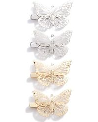 Berry - Set Of 4 Butterfly Clips - Lyst