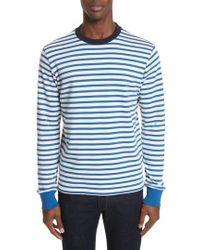 PS by Paul Smith - Stripe Crewneck Sweatshirt - Lyst