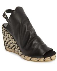Patricia Green Cher Leather Espadrille Wedge CGHMjLiIR5