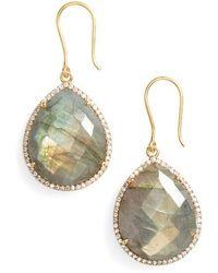 Susan Hanover - Small Semiprecious Stone Teardrop Earrings - Lyst