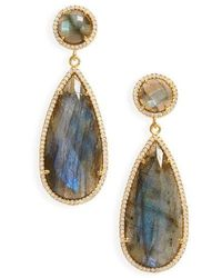 Susan Hanover - Semiprecious Stone Teardrop Earrings - Lyst