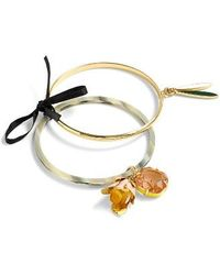 J.Crew | Flower Charm Bangle Set | Lyst
