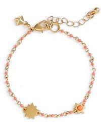 Rebecca Minkoff - Sole Beaded Link Bracelet - Lyst