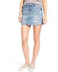 Mavi Jeans | Carmen Destroyed Denim Skirt | Lyst