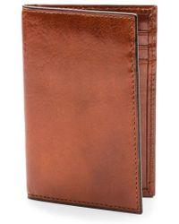 Bosca - Aged Leather Card Case - Lyst