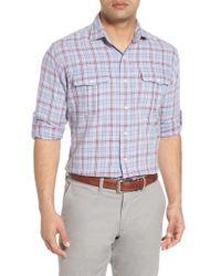 Peter Millar - Emerald Isle Regular Fit Plaid Sport Shirt - Lyst