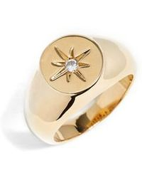 Five And Two - Margherite Signet Ring - Lyst