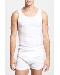 CALVIN KLEIN 205W39NYC - Classic Fit 3-pack Cotton Tank Top, White - Lyst