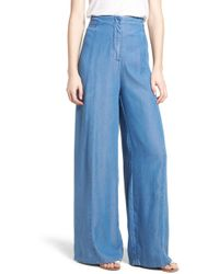 BISHOP AND YOUNG - Bishop + Young O-ring Wide Leg Denim Pants - Lyst
