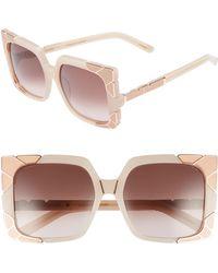 Pared Eyewear - Sun & Shade 55mm Square Retro Sunglasses - Blush/ Rose Gold/ Brown - Lyst