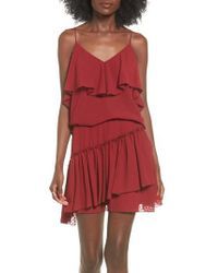 The Fifth Label - Swiss Dot Ruffle Camisole - Lyst
