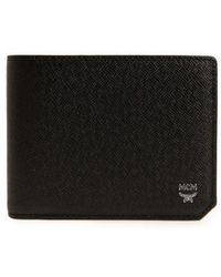 MCM - New Bric Leather Billfold Wallet - Lyst