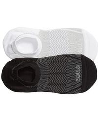 Zella - Ultra Light Run 2-pack Socks, Grey - Lyst