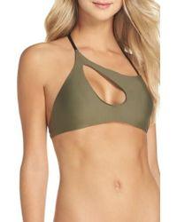 VYB - Lively Asymmetrical Halter Bikini Top - Lyst