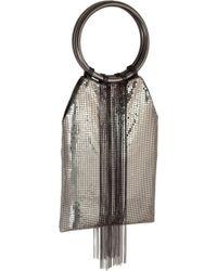 Whiting & Davis - Cascade Fringe Mesh Bracelet Bag - - Lyst