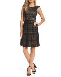 Taylor Dresses - Lace Fit & Flare Dress - Lyst