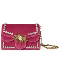 42795f97ef03 Gucci Broadway Pearly Bee Shoulder Bag in Metallic - Lyst