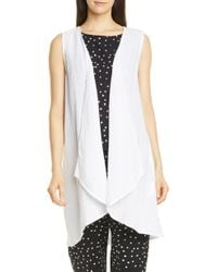 Eileen Fisher - Organic Cotton Long Vest - Lyst