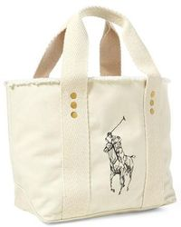 Polo Ralph Lauren - Small Pony Canvas Tote - Lyst