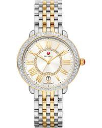 Michele - Serein Diamond Watch Head & Bracelet - Lyst