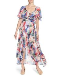 Catherine Malandrino | Jos Floral Capelet Wrap Dress | Lyst