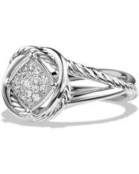 David Yurman - 'infinity' Ring With Diamonds - Lyst