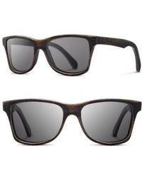 Shwood - 'canby' 54mm Polarized Wood Sunglasses - Distressed Dark Walnut/ Grey - Lyst
