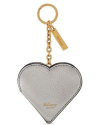 Mulberry - Heart Locket Leather Key Ring - - Lyst